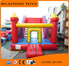 simple model colorful inflatable slide with bouncer for kids