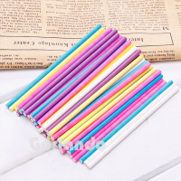 Colorful wholesale candy customized printed lollipop paper stick