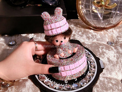 New design air freshener seat perfume seat Monchhichi dolls woman car