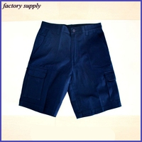 Safety Pants Worker's Summer Working Short Anti-Shrink Navy Cargo Shorts
