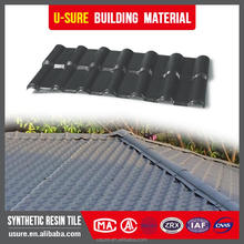 Blue Lasting color synthetic resin flat roof tiles