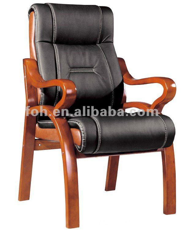 Classic black PU leather upholstered visiting chair for sale (FOHF-30#)