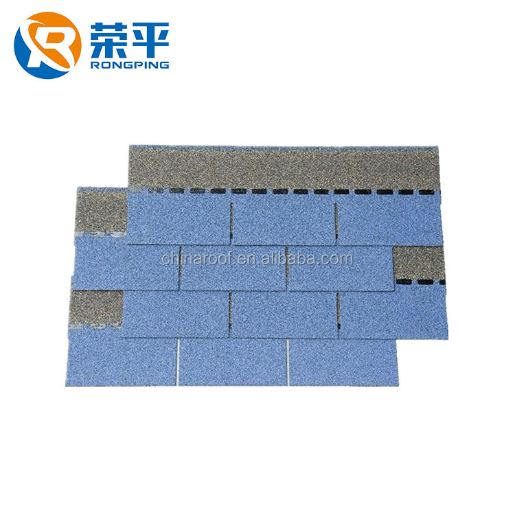 Chinese Supplier Colorful Asphalt Roofing Shingles 3-Tab Tiles For Thailand