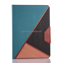 Splice glitter flash soft tpu +pu leather flip case for ipad 2