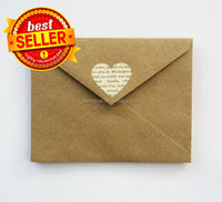 2015 hot printed colorful kraft paper envelope made in China