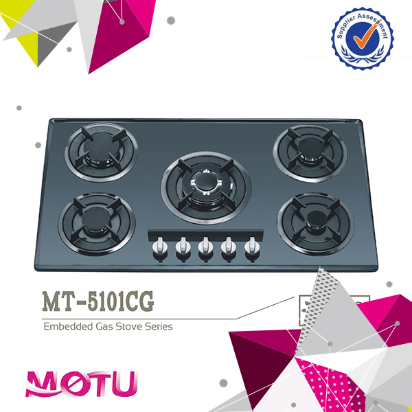 2016 5 burners high temperature build-in gas hob / gas cooker