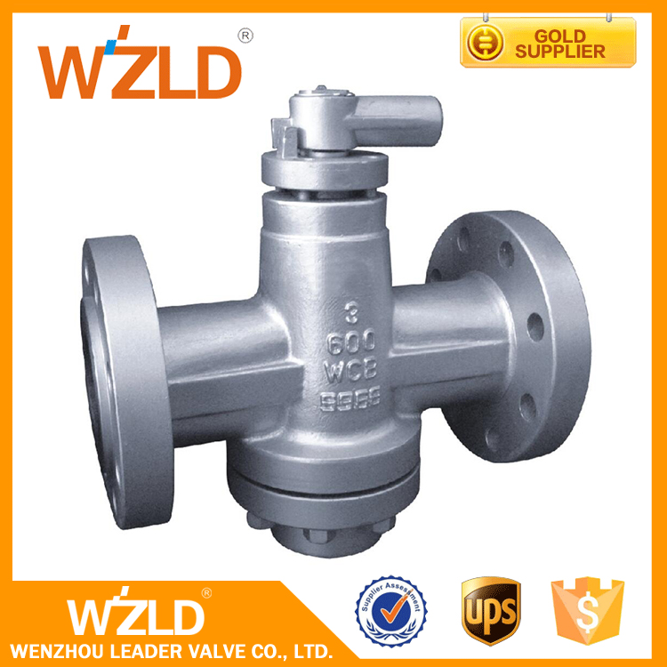WZLD China Alibaba Lubricated WCB Flanged Casting Inverted Pressure Balance Plug Valve