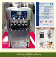 High Quality commercial liquid nitrogen ice cream machine with 2+1flavors RB1119A