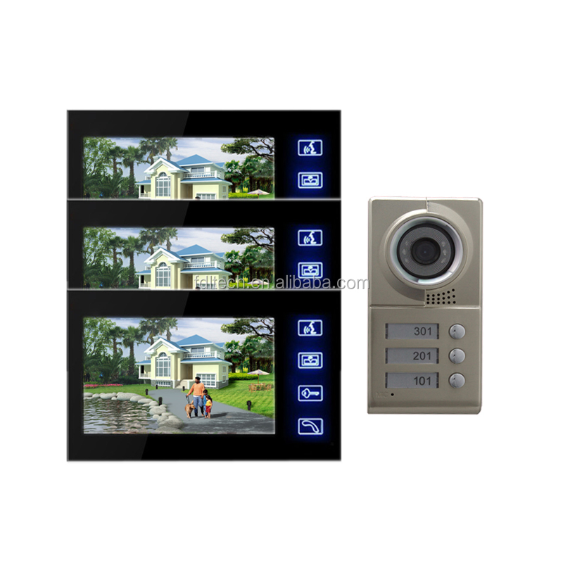 7 inch color monitor security video door phone Perfect automatic lock system Used for family villa intercome