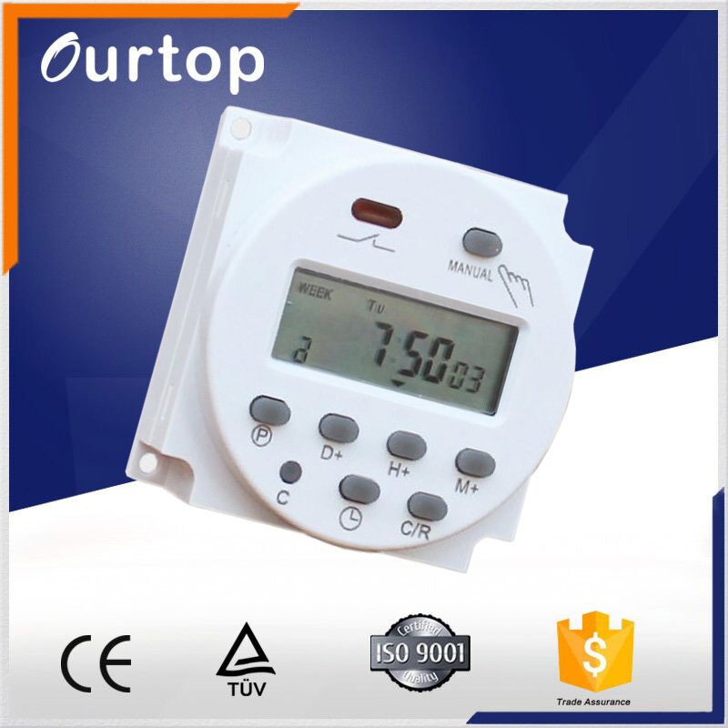 USA DC 110V 16A LCD Digital Programmable Power Round Timer Switch for Light