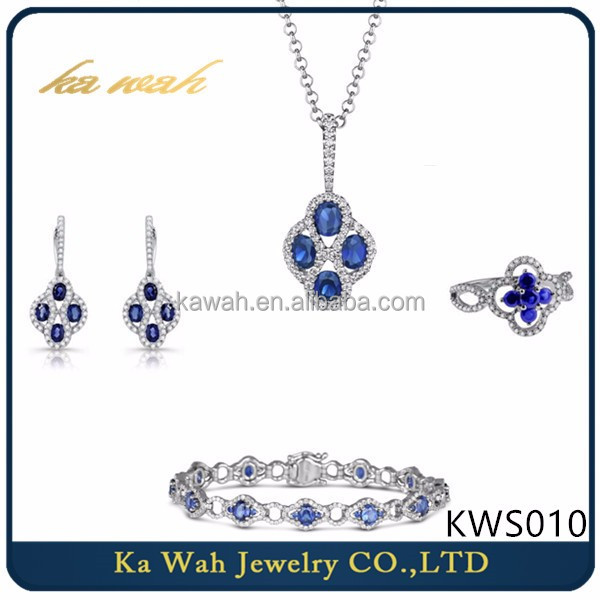 Fashion Real 18 carat White Gold Brilliant Jewelry Sets