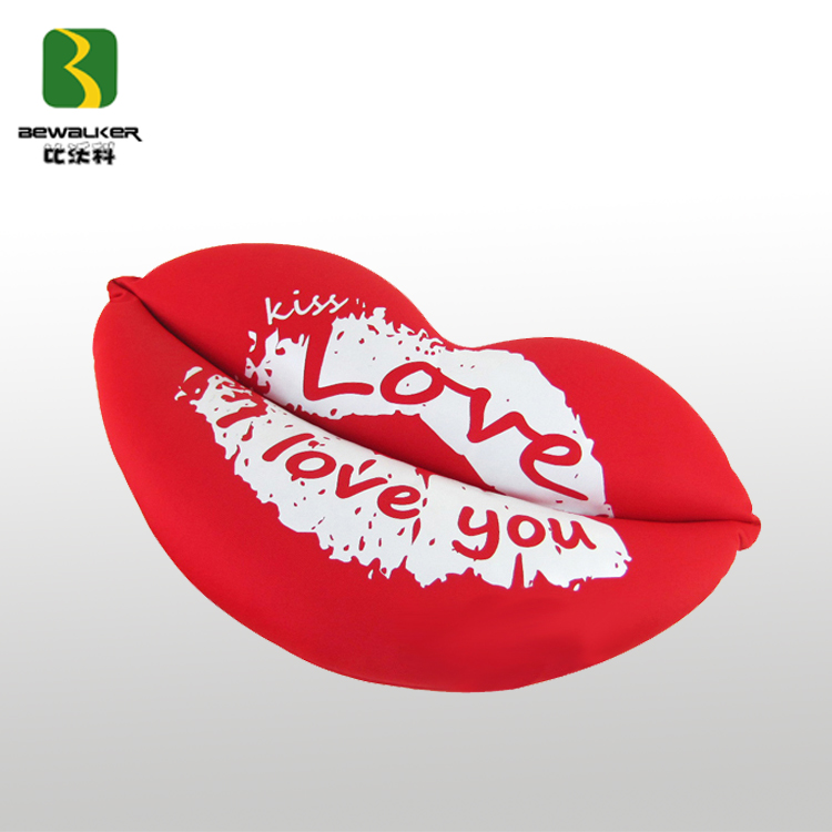 Fashion Valentine Colorful Cushion Lovely Red Lip And Heart for Lovers