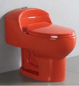 A3112 Colored Porcelain Bathroom Red Toilet For Hotel