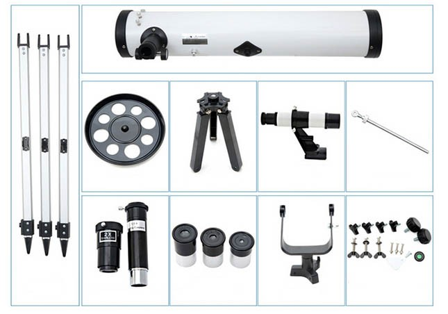 Watch Sky Telescope FT76700M Reflector,Best Selling Products Outdoor Telescope Alibaba China Supplier with Gift box