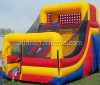 Party And School Event Used Inflatable Dry Slide, Gaint Inflatable Slide For Sale