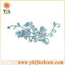 beautiful flower design hotfix transfer for clothes decoration