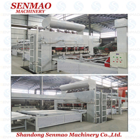 full automatic double sides short cycle melamine laminating hot press machine