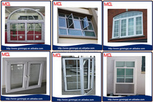 Double glass PVC sliding window with skyview roof window