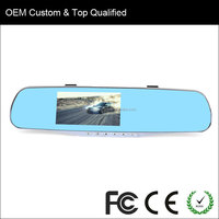 HD Rearview Mirror Car Black Box 4.3'' TFT LCD 1.3MP DVR Vehicle Driving Recorder Camera