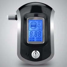 Professional Mini Police Digital LCD Screen Breath Alkohol Alcohol Tester Breathalyzer AT6000 Bafometro Alcoholimetro