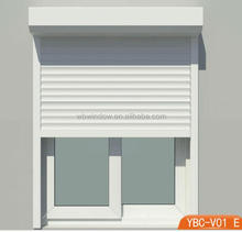 pvc window with roller shutter,roll up window shutters