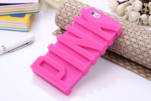 For iphone 5 6 7 victoria secret pink character silicone thick phone case