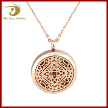 Traditional Lucky Pattern Scent Releasing jewelry Aroma Locket Diffuser Pendant
