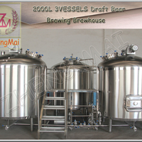 2000L Commercial Draft Beer Brewing Equipment