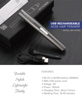 kiki beauty world Independent research and development Personal Care Product electric nose hair trimmer