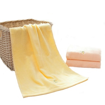 100 % Turkish cotton yellow fast dry sport face towel for tennis