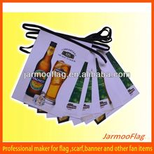 PVC beer promotion outdoor bunting flag