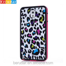 Fashion design tech accessories for samsung note 3 leopard case