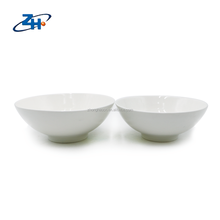 Factory price white round bone china food bowl