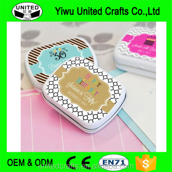 96 Custom Personalized Birthday Mint Tins Party Favors Candy Boxes