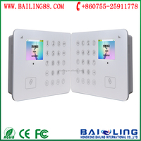 TFT Screen Touch Keypad,88 Wirelesses/2 Wires and 5 SMSes/Calls Alarm Number SPK Smart GSM Alarm System