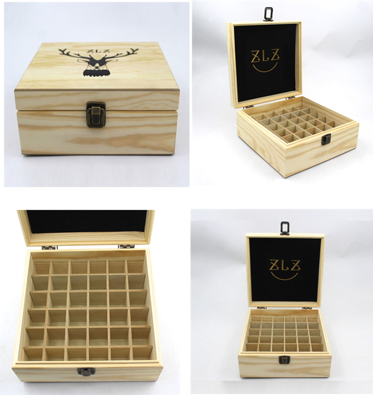 new design cheap wood essential oil bottles box
