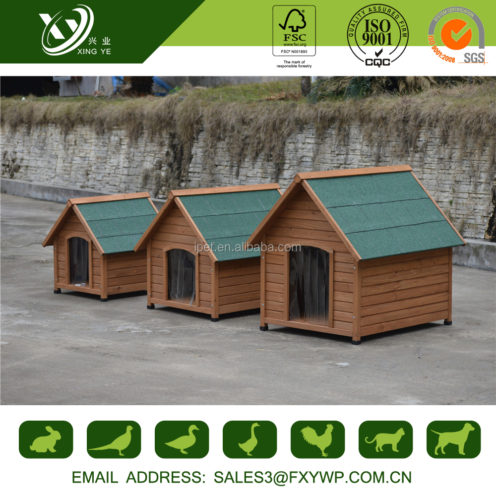 New design easily clean outdoor bamboo dog house