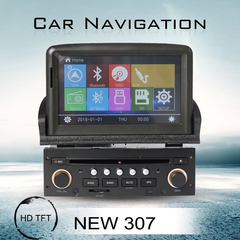 touch screen wince 6.0 car dvd gps navigation player for new Pegueot 307 car multimedia system