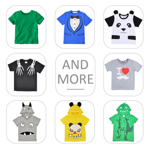 Wholesale Short Sleeve Kids Cartoon Cute Boys's Clothing Printed T Shirts