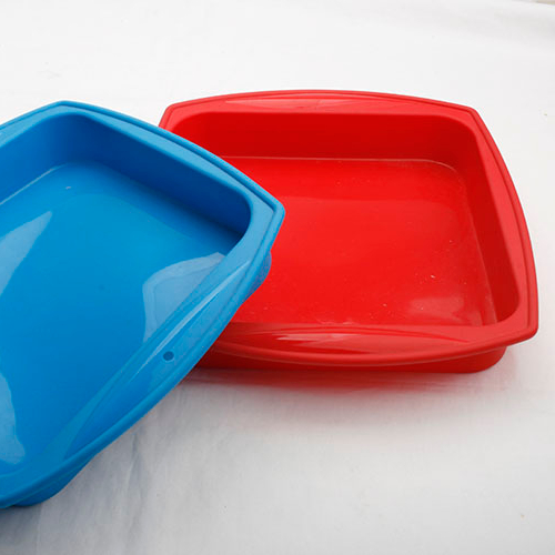 Wholesales non-stick cake mould square silicone baking pan