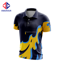 Hot sales unisex polo t shirts with print design