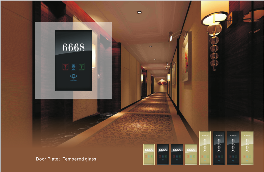 Morden Intelligent Door Plate For Hotel