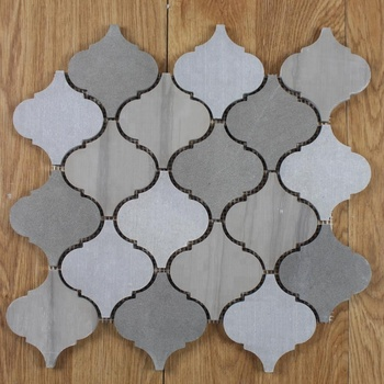 Decorstone24 Arabesque Nature Stone Marble Lantern Mosaic Tile Floor Or Wall Backsplash Tile