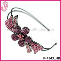 Pink Ribbon Hair Accessories Bows With Love Bottle Cap