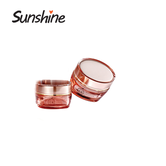 Eco friendly recycled crystal empty cosmetics cream glass jars