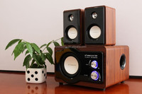 Real wooden Bluetooth 2.1ch multimedia speaker