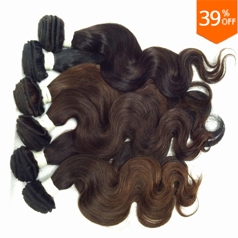 Cheap wholesale queen hair 4 pieces body wave wavy original indian virgin mix colored 100% remy human hair weving free shipping