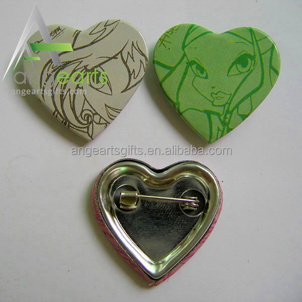 China factory Wholesale pin badge custom / heart shaped pin badges