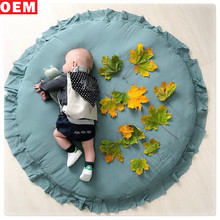 Custom Luxury Home Carpet Cotton Round Soft Floor Mat Baby Crawl Paly Mat For Kids