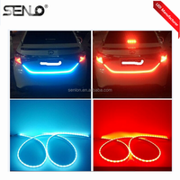 2017 new dual color Car Rear Tail Box flow Lights led strip Turn Signal Brake running light for suzuki BYD jetta vw ford hyundai